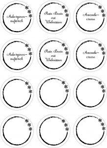 Labels für kleine Schraubgläser Vegetarischer Aufstrich